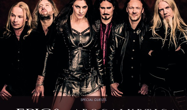 June 8: At # Postepay Rock in Roma will play Nightwish Epica + + Apocalyptica. Only Italian date of the Finnish band.