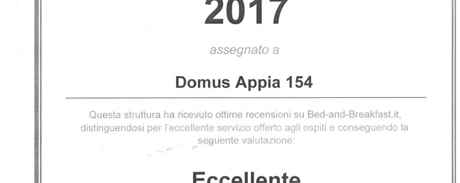 Domus appia has received another prestigious award.